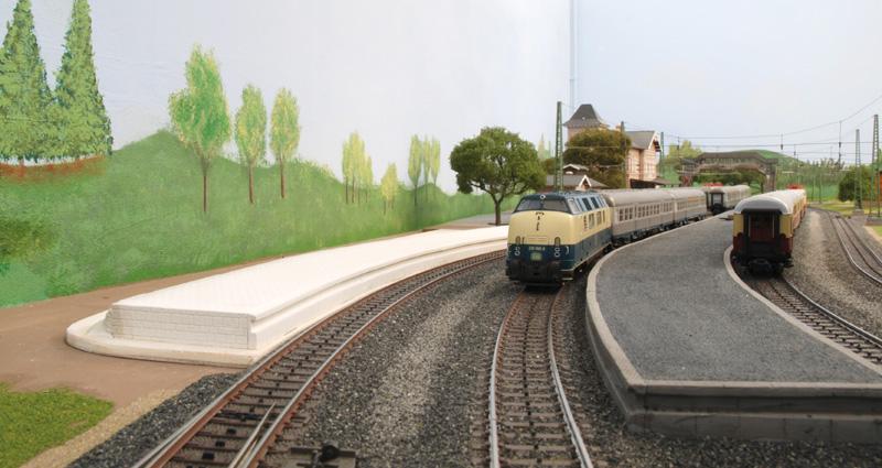 Stellprobe Bahnsteig