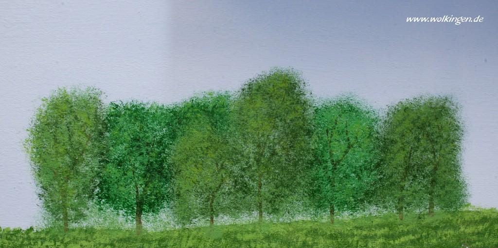Luftige Baumgruppe