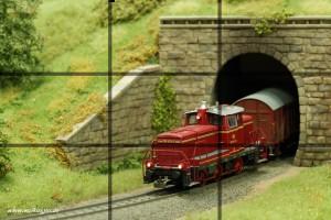 Modellbahnfotografie - Drittelregel