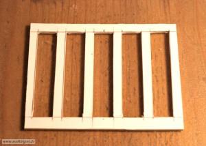 Rahmen des mittleren Fassadenteils