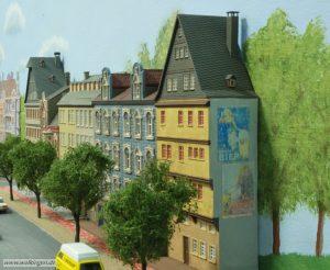 alte Werbung an der Fassade