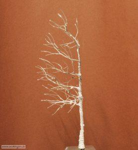 Rohling aus Silberdraht mit Strukturpaste