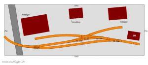 Gleisplan Holzhandel