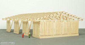 Holzlagerhalle - Rückseite