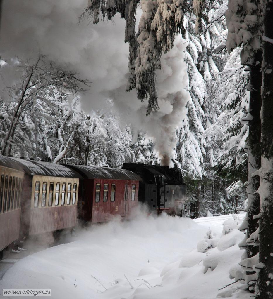 Verschneite Fahrt