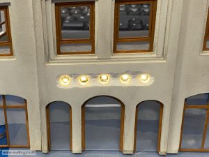 Beleuchtung mit LED in der Fassade