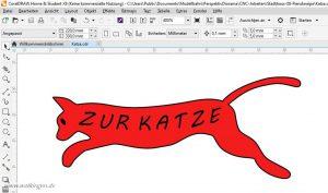 """Kneipenschild """"Zur Katze"""" in Corel Draw"""