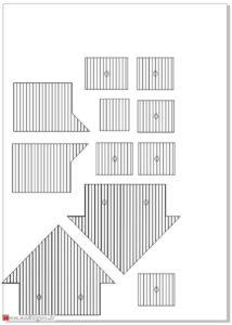 Scheune mit Stall - Holzteile