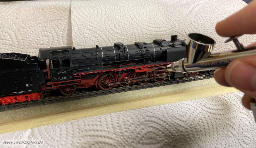 Alterung BR41 mit Airbrush