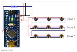 Schaltplan Nano mit WS2812